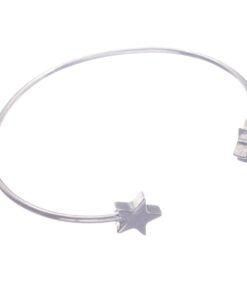 Bracelet, silver, star