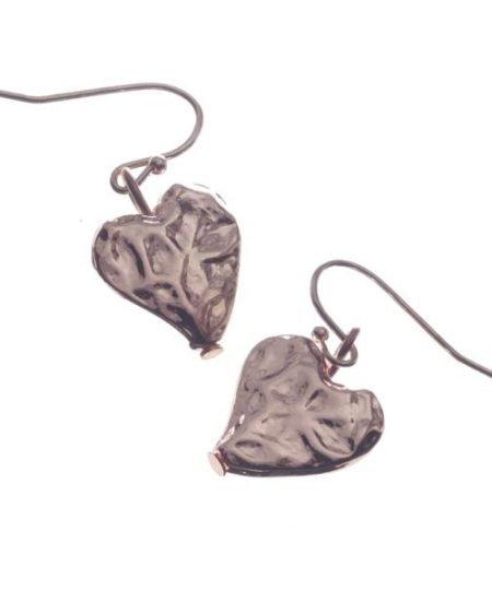 Earrings, Hearts, Drop