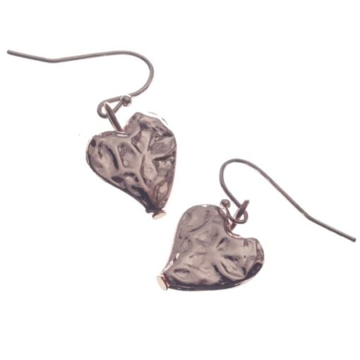 Earrings, Hearts, Drop