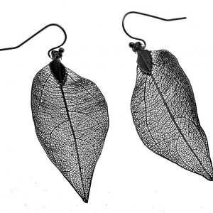 Earrings, Leaf, Drop, Filigree