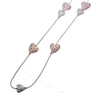 Necklace, Long, Cascading, Hearts