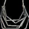 Necklace. Choker, Multi, Silver