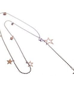 Necklace, Long, Cascading, Stars, Hearts