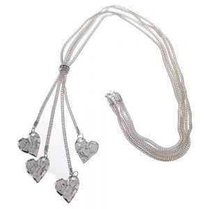 Necklace, Long, Pendant, Hearts