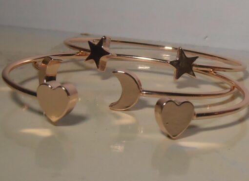 Bracelet, Rose Gold, Heart