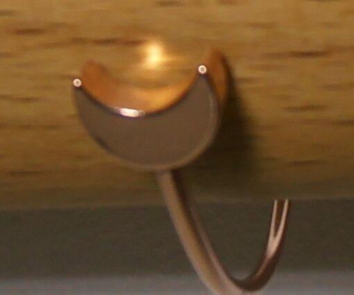 Bracelet, Rose Gold, Silver, Moon