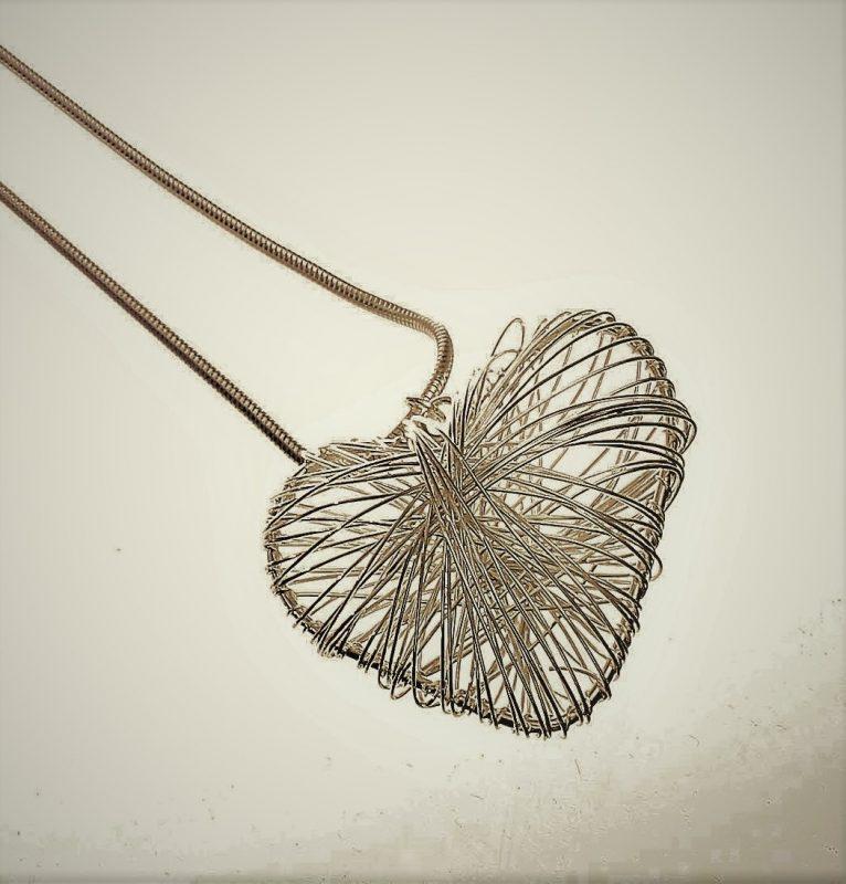 Necklace, Long,Heart, Pendant