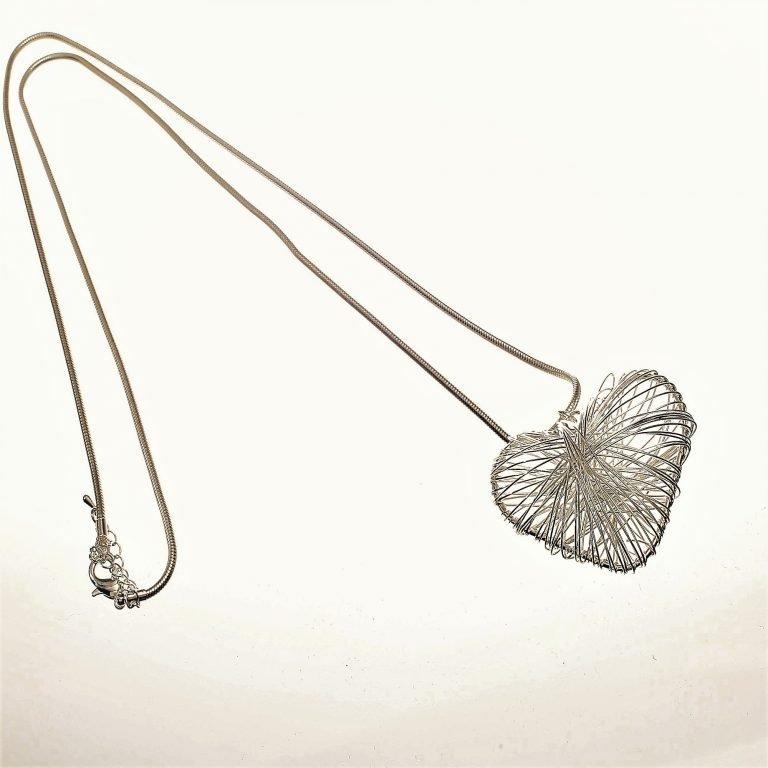 Necklace, Long, Heart, Pendant