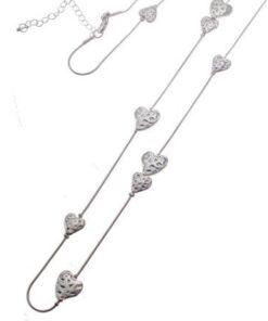 Cascading Heart Necklace