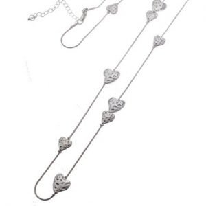 Cascading Heart Necklace