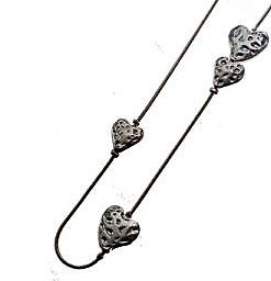 Necklace, Hearts, Cascading