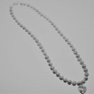 Necklace,Choker, Pearl, Heart