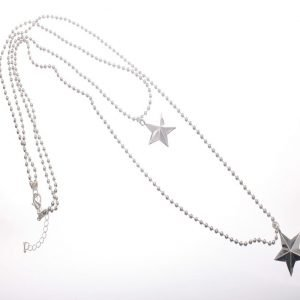 Necklace. Stars, Pendant, Double
