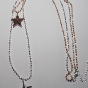 Necklace, Star, Double, Pendant