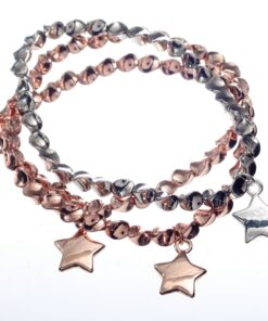 Bracelet, Stretch, Triple, Stars