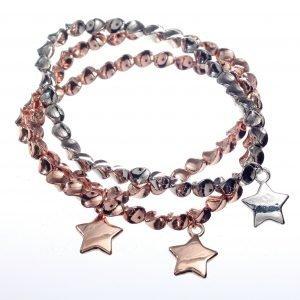 Bracelet, Stretch, Triple, Stars