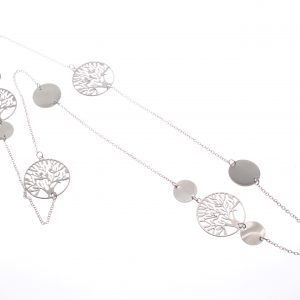 Cascading Tree of Life circles on Long Necklace