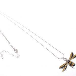 Ceramic firefly Pendant Necklace