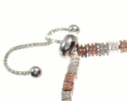 Mixed colour lariat bracelet