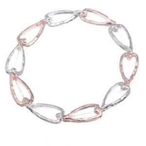 Linked heart stretch bracelet