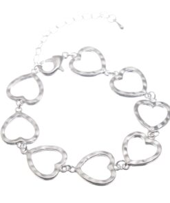 Linked heart bracelet