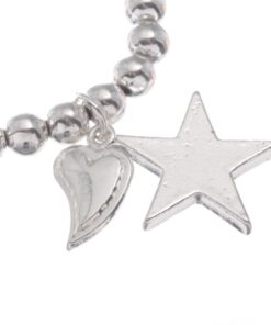 Stretch bead bracelet with drop star