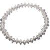 Silver beaded stretch bracelet