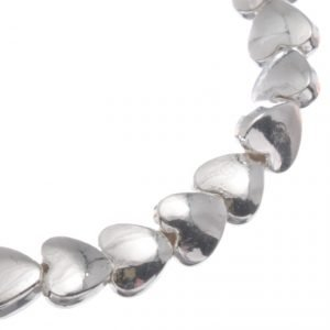 Silver beaded stretch bracelet