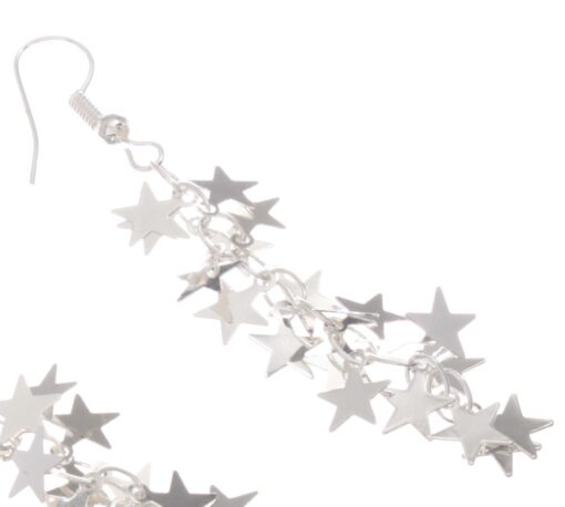 Cascading star earrings