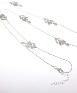 Cascading Leaf Long Necklace