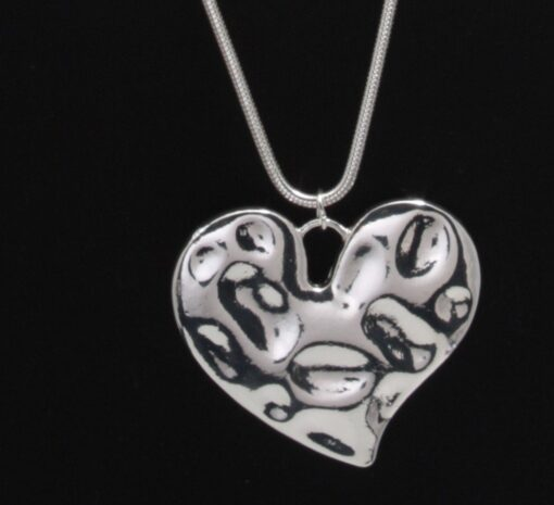 Battered Heart Pendant