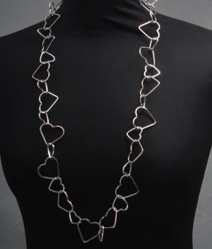 Statement Cascading Hollow Heart Necklace
