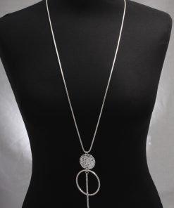 Statement pendant long necklace