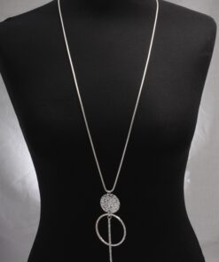 Statement pendant long necklace