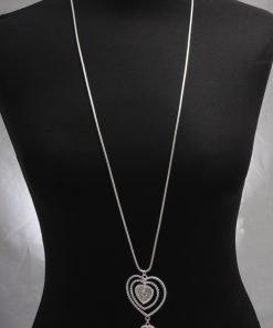 Boho Woodstock pendant on Long Necklace