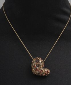 Short Swarovski Style Diamante Heart Necklace