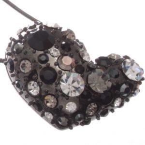 Swarovski Style Diamante Heart