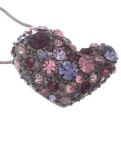 Short Swarovski Style Diamante Heart Necklace