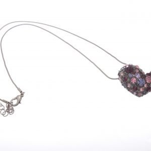 Short Diamante Heart Necklace